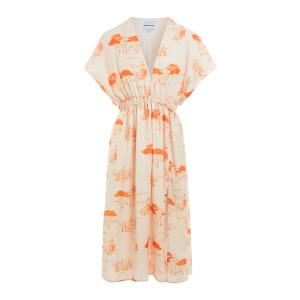Robe Oriane Imprimé Magnan Rose Orange