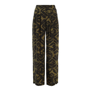 Pantalon Lanzarote Soie Vert Marron