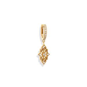 Mini Créole Nour Diamants Or Jaune (vendue à l'unité)