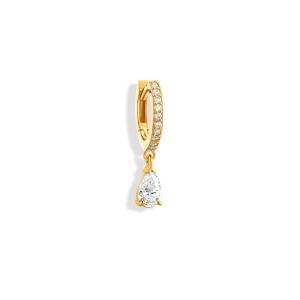 Mini Créole Isa Diamants Or Jaune (vendue àl'unité)