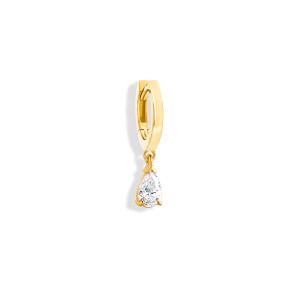 Mini Créole Isis Diamant Or Jaune (vendue à l'unité)