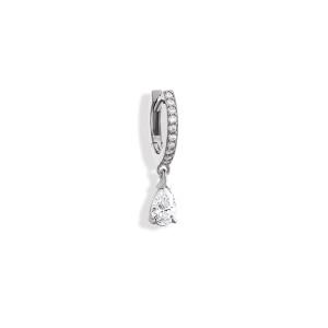 Mini Créole Isa Diamants Or Blanc (vendue àl'unité)