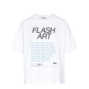 Tee-shirt Flash Art Coton Blanc