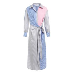 Robe Coton Rayures Multicolore