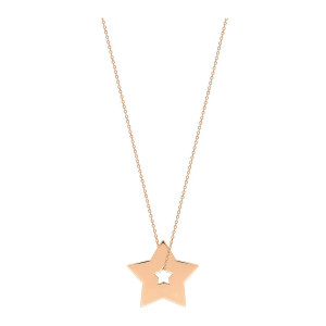 Collier Milky Way Étoile Or Rose