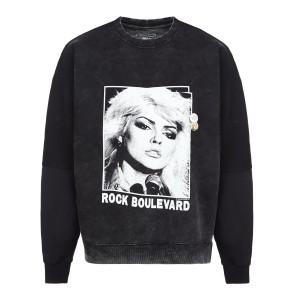 Sweatshirt Roller Boulevard Coton Noir