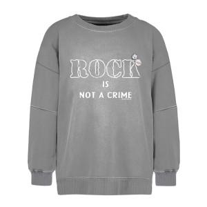 Sweatshirt Roller Crime Coton Gris