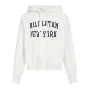 Sweatshirt Nili Lotan New-York Imprimé Écru