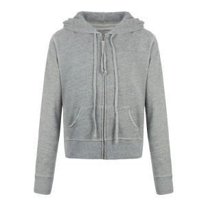 Sweatshirt Zippé Callie Coton Gris Chiné