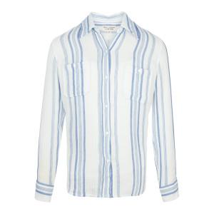 Chemise Kaya Coton Rayures Blanc Bleu