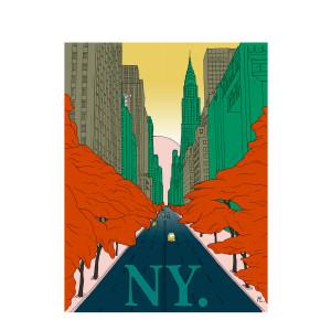 Affiche New-York 30x40cm