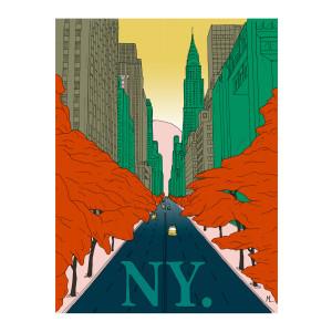 Affiche New-York 56x76cm