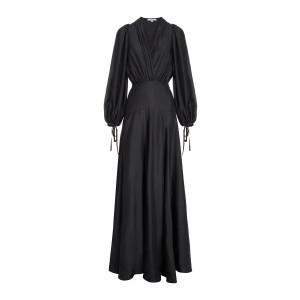 Robe Sofia Mousseline Soie Noir