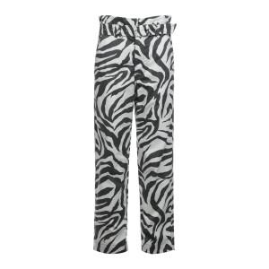 Pantalon Carlyle Coton Noir Blanc Imprimé Zèbre