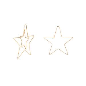 Créoles Étoiles Asymétriques Gold Filled