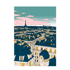 Affiche Paris 50x70cm