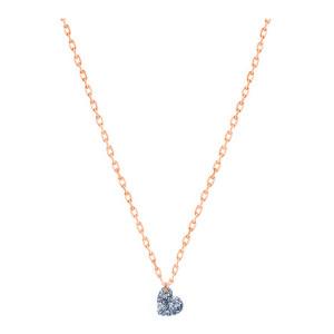 Collier 360° Cœur Diamant 0,15 Or Rose