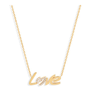 Collier Love Diamants Or Jaune
