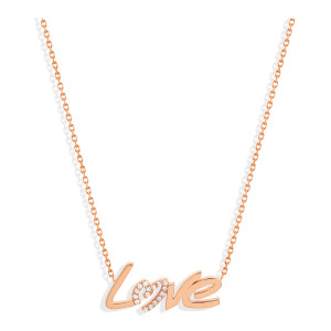 Collier Love Diamants Or Rose