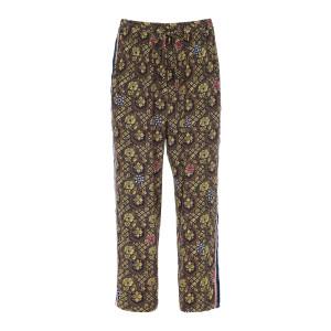 Pantalon Adana Soie Imprimé Jaune