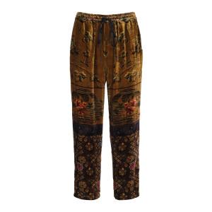 Pantalon Kanpur Imprimé Jaune