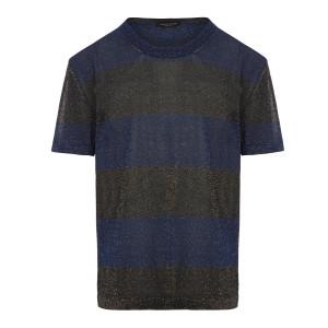 T-shirt Rayures Bleu Noir