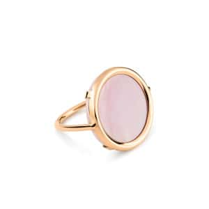 Bague Disc Or Rose Nacre Rose