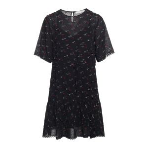 Robe Imprimé Multicolore Noir