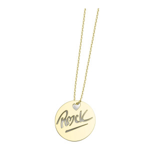 Collier Rond Rock L Or Jaune