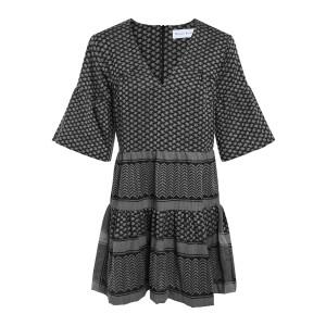 Robe Siena Coton Gris Noir
