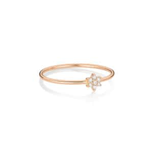 Bague Mini Star Diamants Or Rose