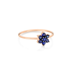 Bague Star Saphirs Or Rose