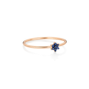 Bague Mini Star Saphirs Or Rose