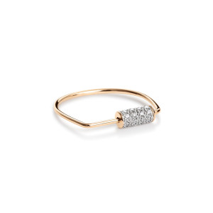 Bague Mini Straw Or Rose Diamants