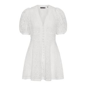 Robe Deanna Coton Biologique Blanc