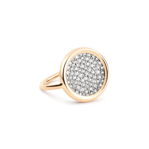Bague Mini Ever Disc Or Rose Diamants