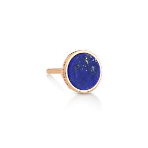 Boucle d'oreille Ever Disc Or Rose Lapis Lazuli (vendue à l'unité)