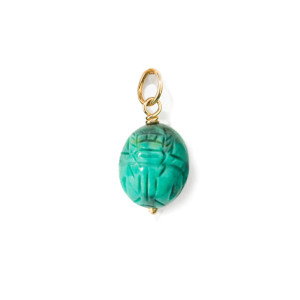 Pendentif Scarabée Turquoise PM - Joaillerie