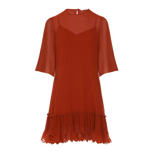 Robe Volants Rouge Terre