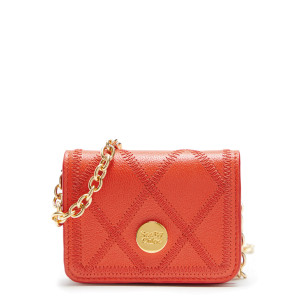 Mini Sac Roby Cuir Grainé Orange