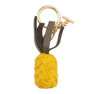 Porte-clés Pineapple Cuir Golden Green