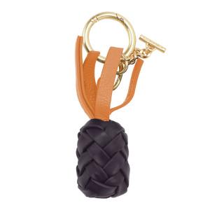 Porte-clés Pineapple Cuir Violet Foncé