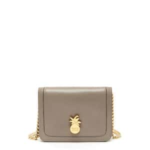 Pochette Pineapple Cuir Motty Grey