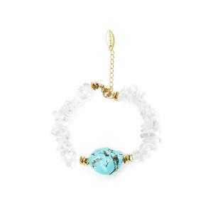 Bracelet Pierres Transparentes Turquoise