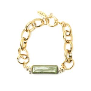 Bracelet Laya Pierre Maille Plaqué Or