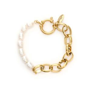 Bracelet Joa Perles Maille Plaqué Or