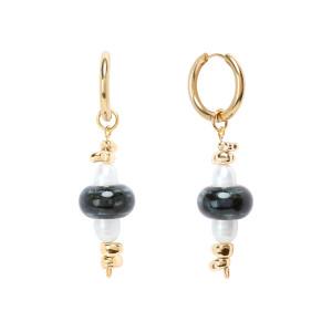 Boucles d'oreilles Sprij Perles Plaqué Or