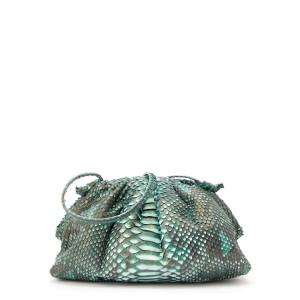 Sac Baby Cuir Souple Python Mint