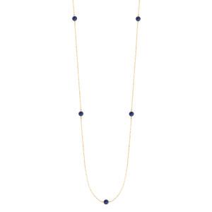 Sautoir Massilia Lapis Lazuli Or Jaune