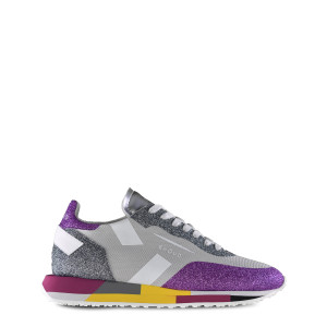 Baskets Running Star Low Mesh Glitter Gris Violet